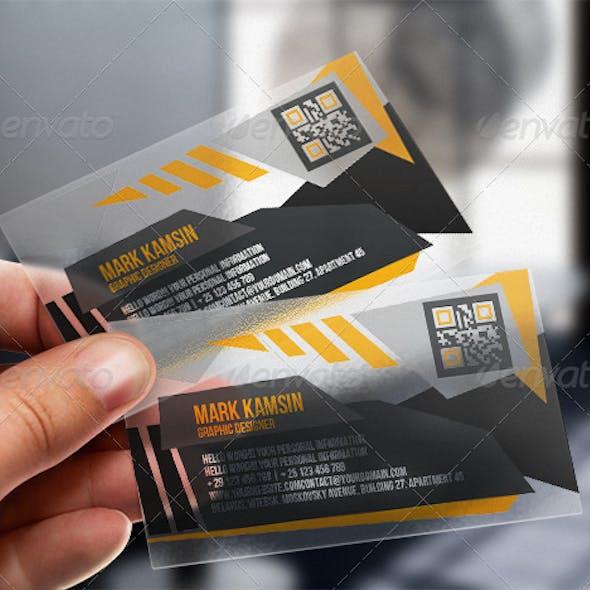 Transpa Angle Business Card