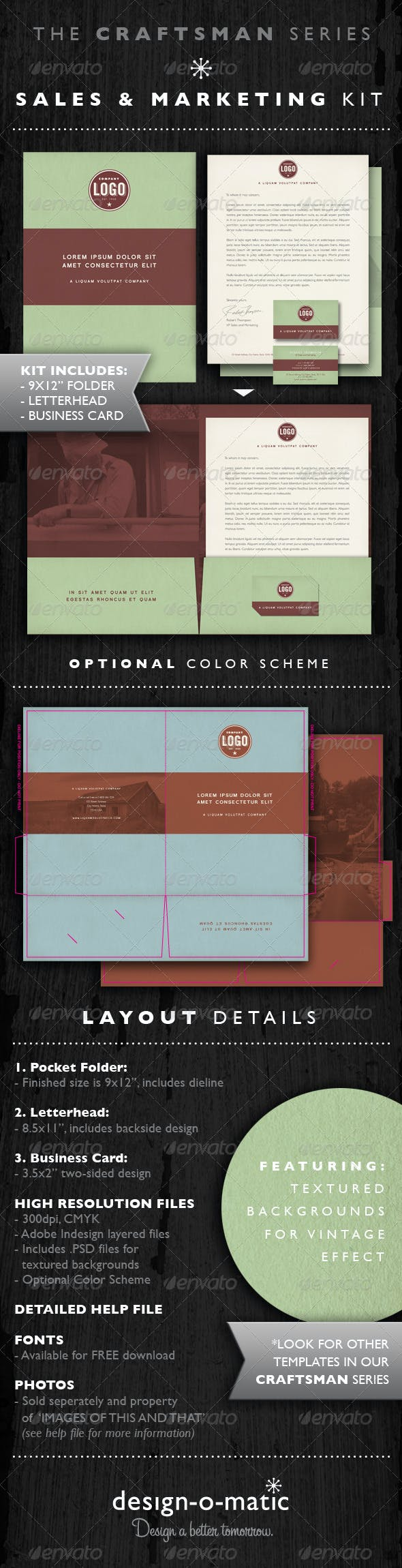 Sales Marketing Kit Folder Template Indd By Design O Matic