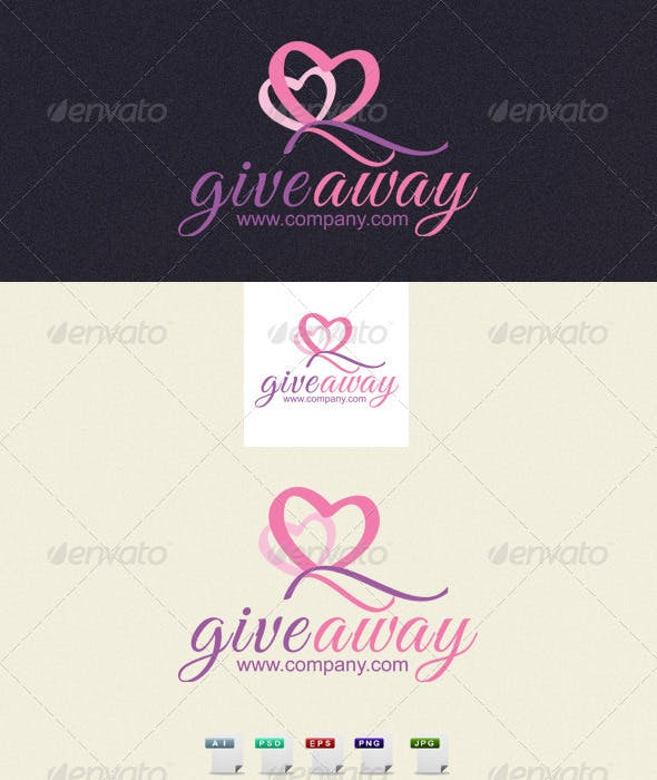 giveaway logo template by designismorero graphicriver