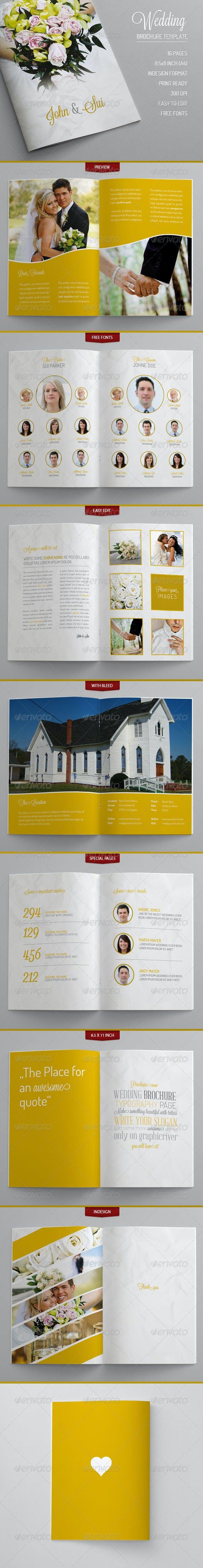 wedding brochure template by foos graphicriver