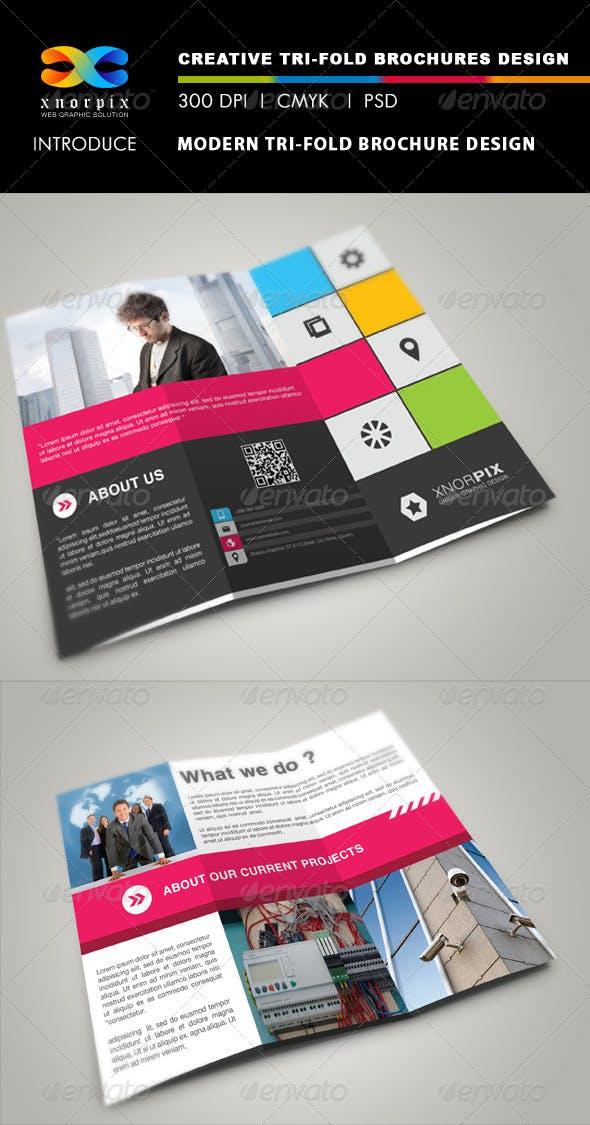 Graphicriver modern photography studio tri-fold brochure photoshop