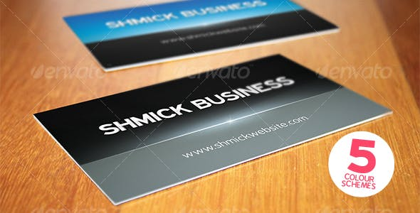 7312294d5d90f Print ready shmick professional business card by Mashton