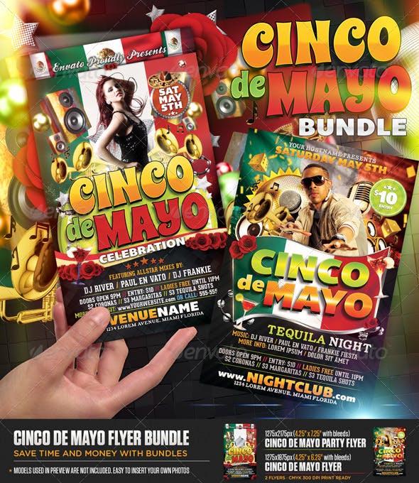 cinco de mayo flyer bundle by designfathoms graphicriver