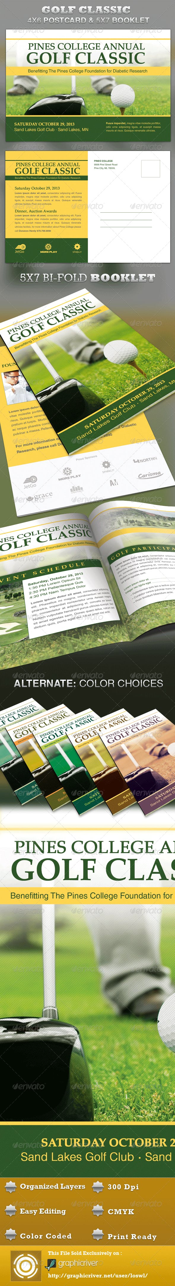 golf classic mailer and booklet template by loswl graphicriver