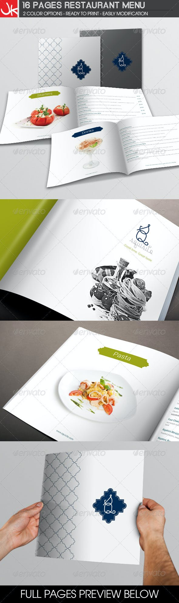 16 pages restaurant menu by jjjaaayyydeng graphicriver