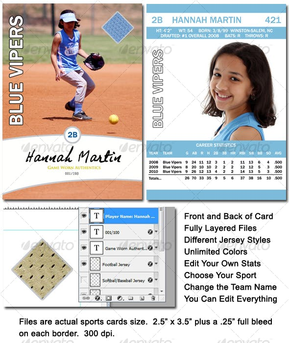 sports card template by rm4 graphicriver