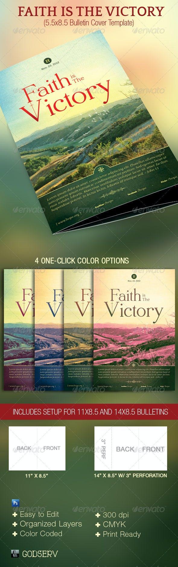 faith victory church bulletin template by godserv graphicriver