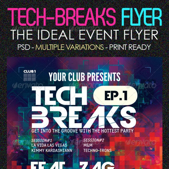 psychedelic flyer graphics designs templates