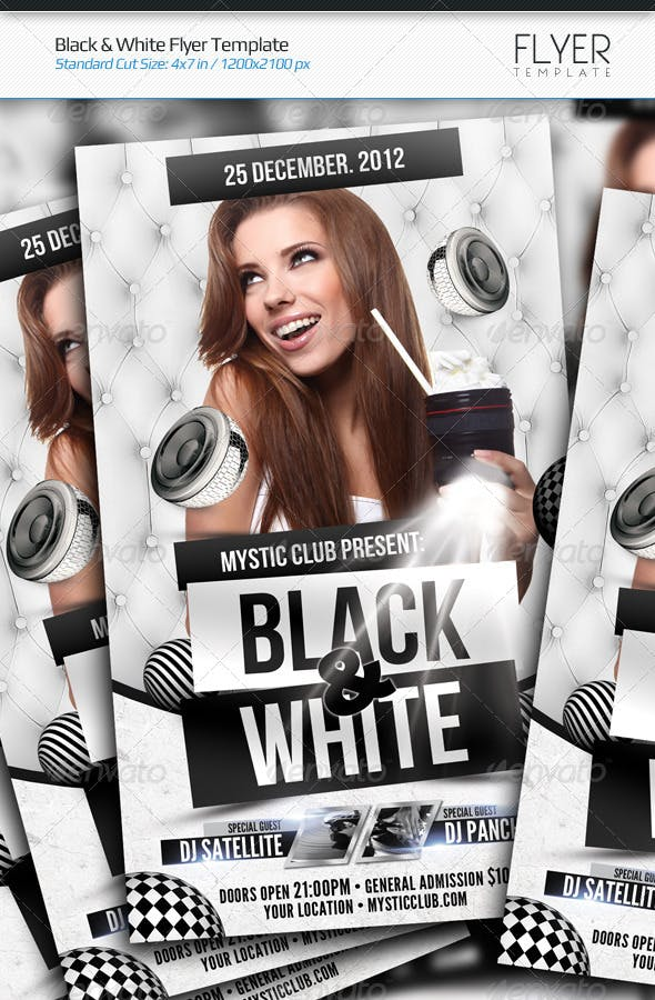 black white flyer template by arphotography graphicriver
