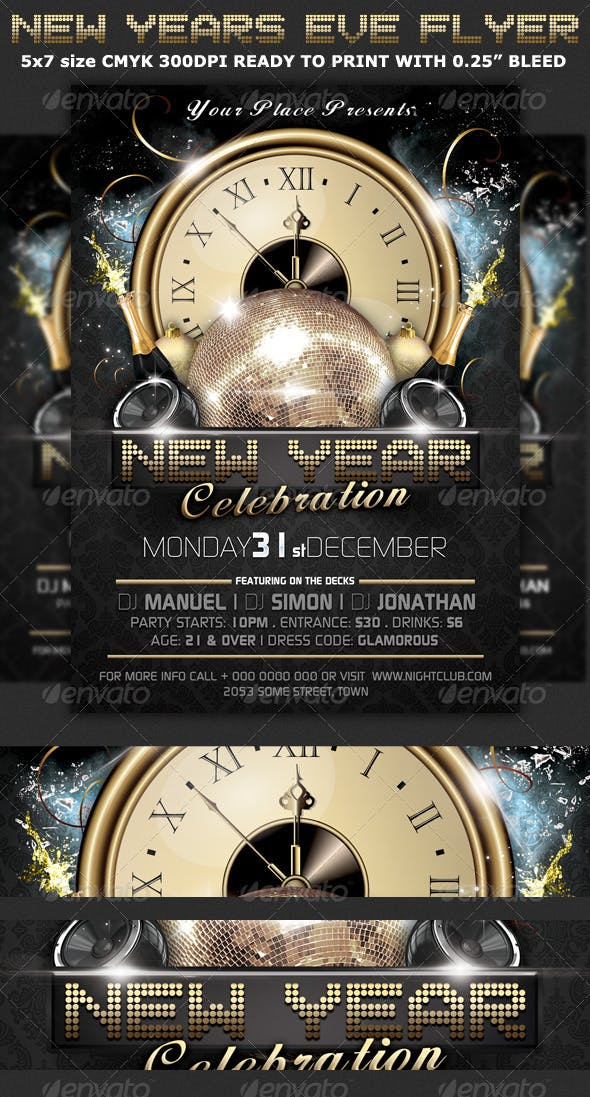 new years eve party flyer template by hotpin graphicriver