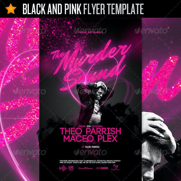 pink flyer stationery and design templates from graphicriver
