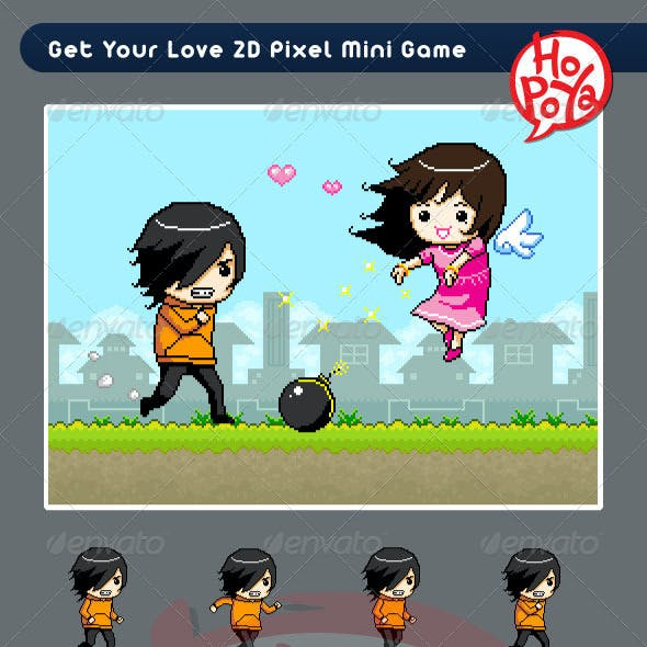Get Your Love 2D Pixel Mini Game by kemotaku | GraphicRiver