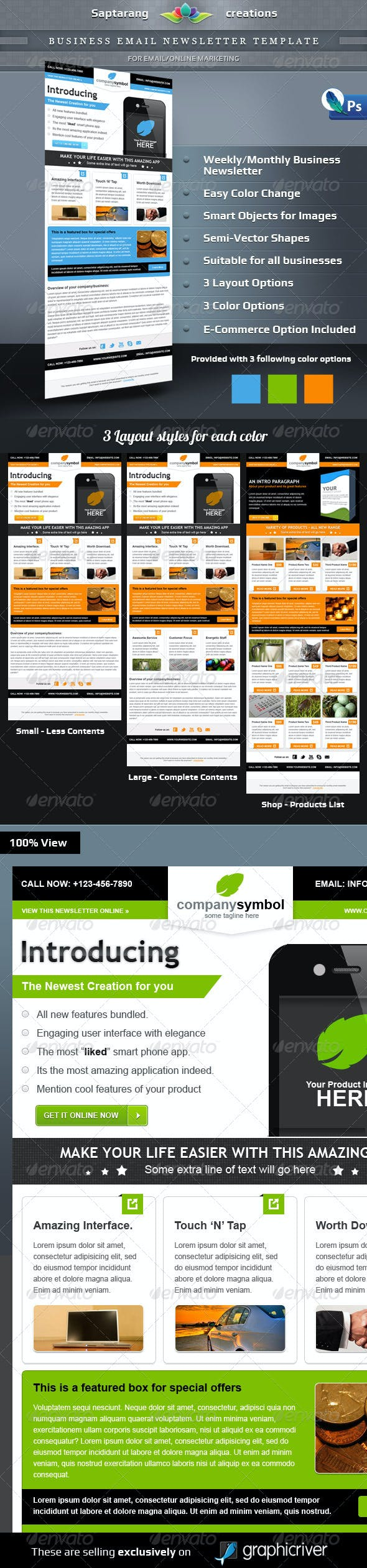 business email newsletter template by saptarang graphicriver