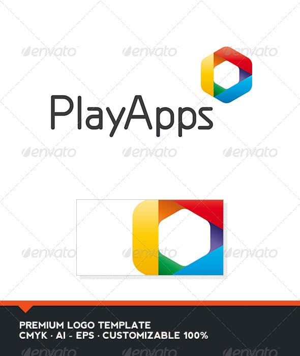 play apps logo template by domibit graphicriver