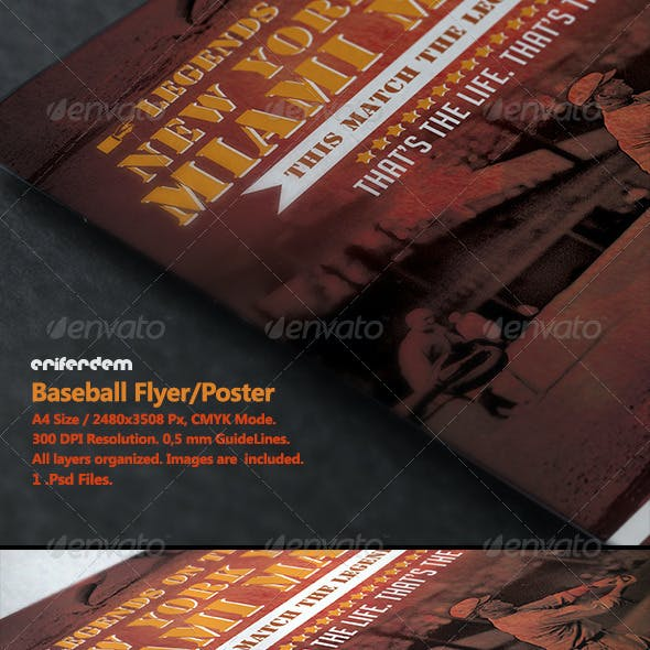 baseball flyer graphics designs template from graphicriver