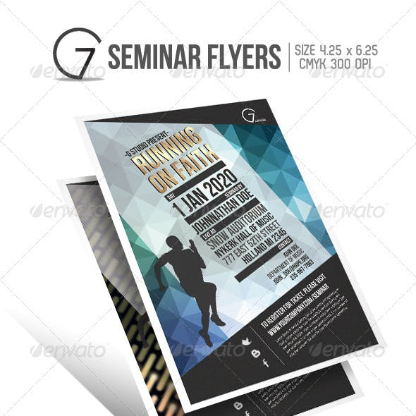 Seminar Flyer Graphics, Designs & Templates from GraphicRiver