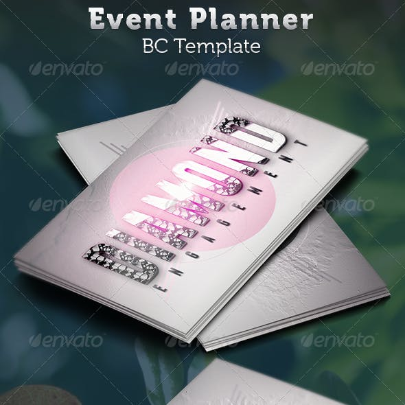 Event Planner Business Card Template By Seraphimchris Graphicriver