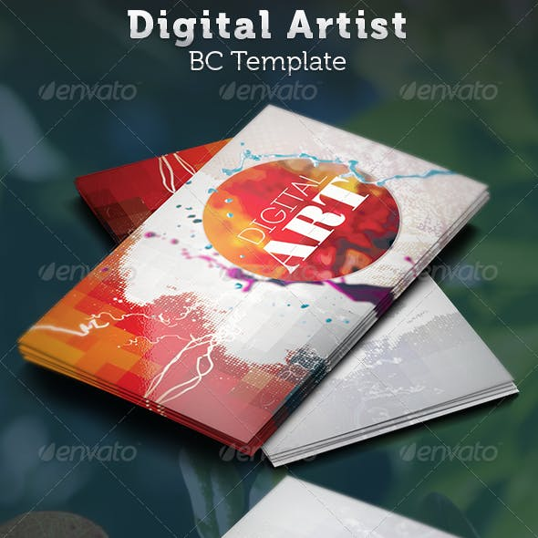 Artist Business Card And Classic Art Graphics Designs Template