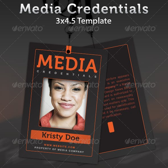 Media Credentials Template By Seraphimchris Graphicriver