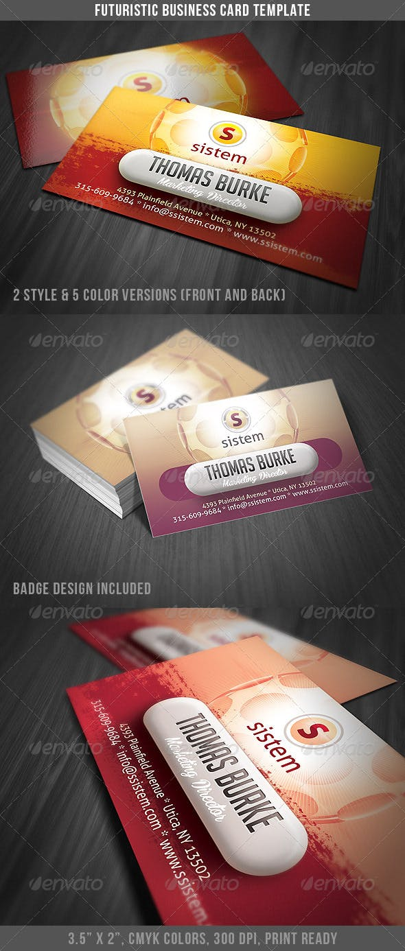 Futuristic Modern Business Card By Discoverit Graphicriver