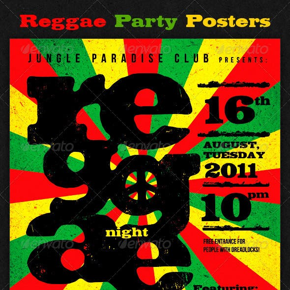 56050bccad891 Reggae Party Posters by subtropica