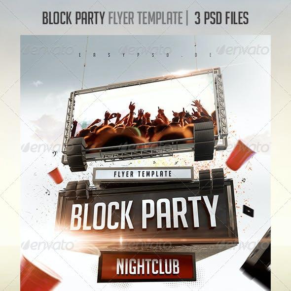 block party flyer graphics designs templates