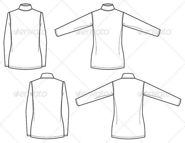 Womens Mock Turtleneck Shirts