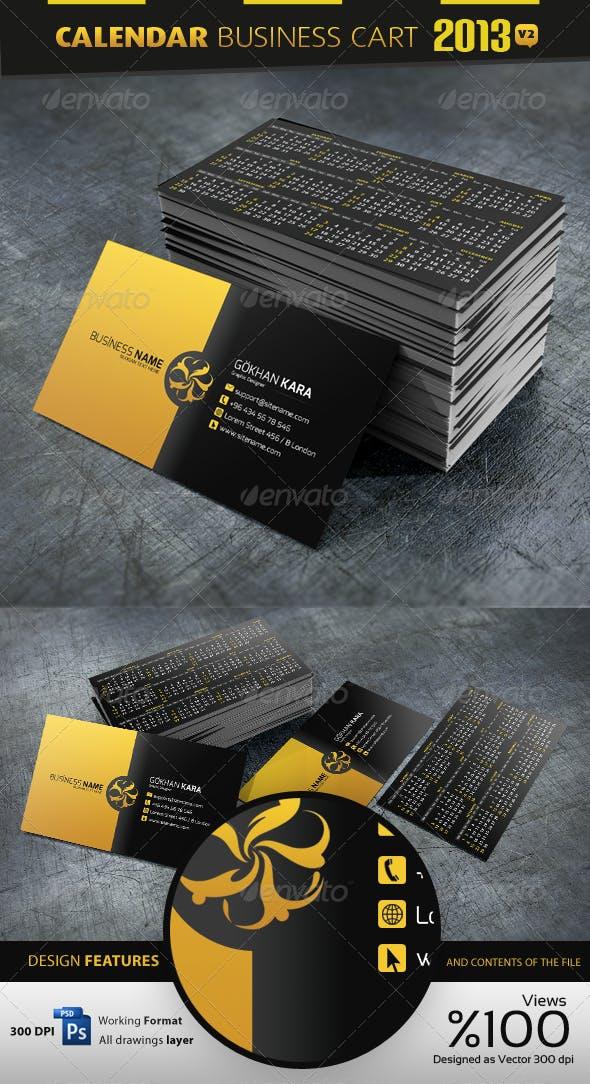 2013 Calendar V2 Business Card By Gokhankara Graphicriver