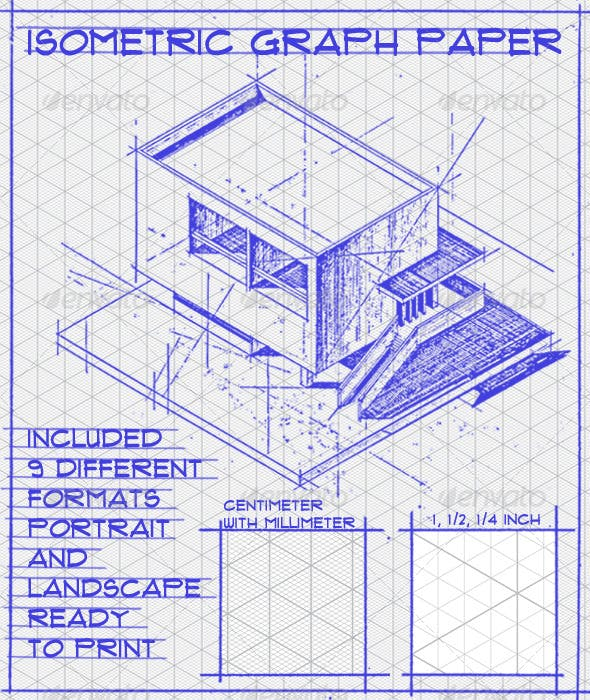 Isometric Graph Paper Set By Geoconta GraphicRiver