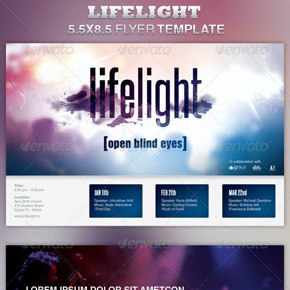 LifeLight Church Concert Flyer Template