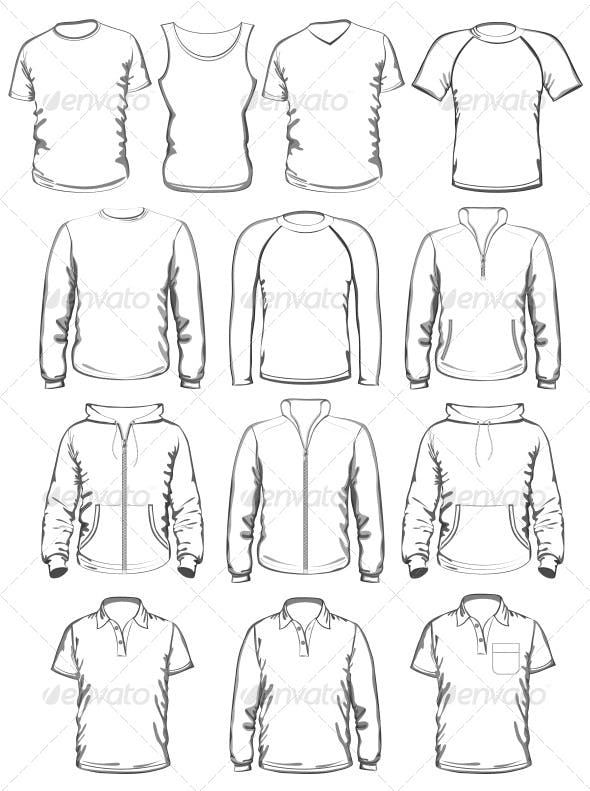 collection of men clothes outline templates by ivelly graphicriver