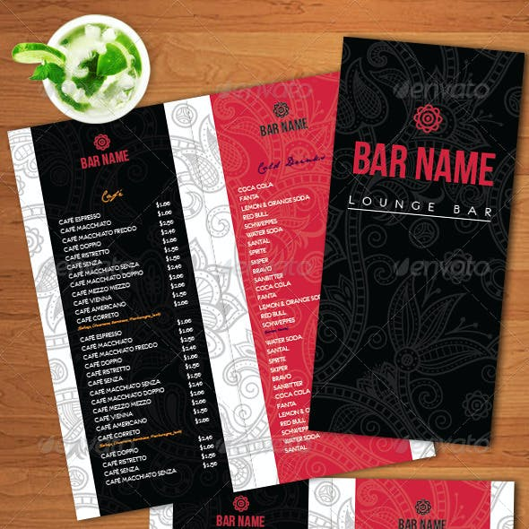 menu template graphics designs templates from graphicriver