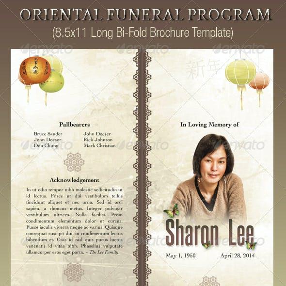 Oriental Style Bi Fold Funeral Program Template By Godserv