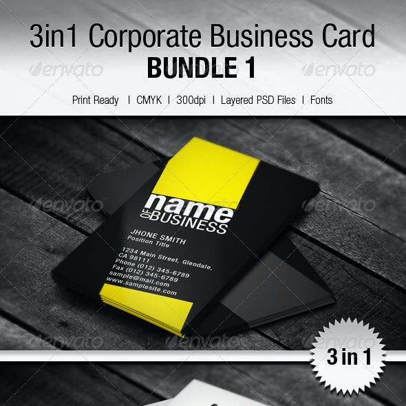 Kanbiz orange graphics designs templates from graphicriver 3in1 creative business card bundle 1 reheart Images