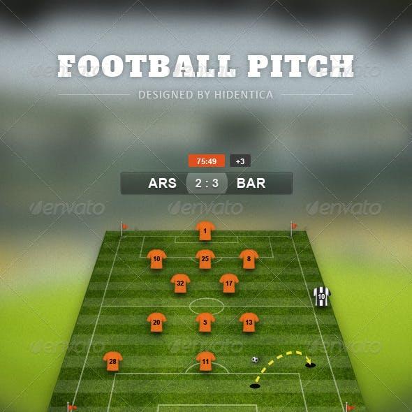 Football Pitch Psd