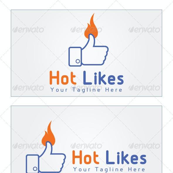 Facebook ad logo templates from graphicriver hot likes logo template maxwellsz