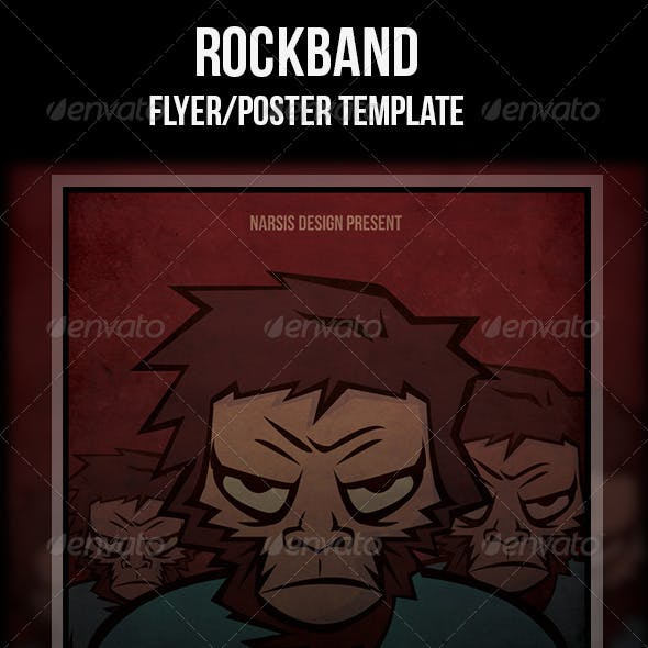 rock band flyer graphics designs templates from graphicriver