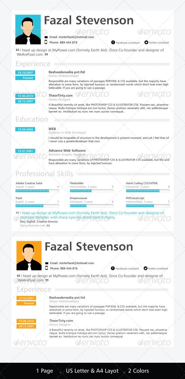 one page resume template resumes stationery