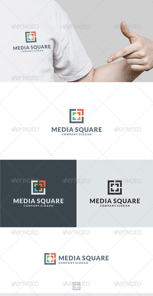 Media Square Logo by Kapacyko | GraphicRiver