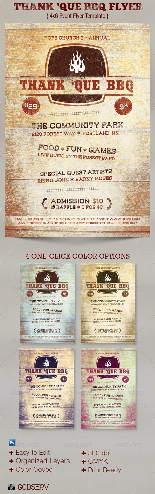 western bbq charity flyer template by godserv graphicriver