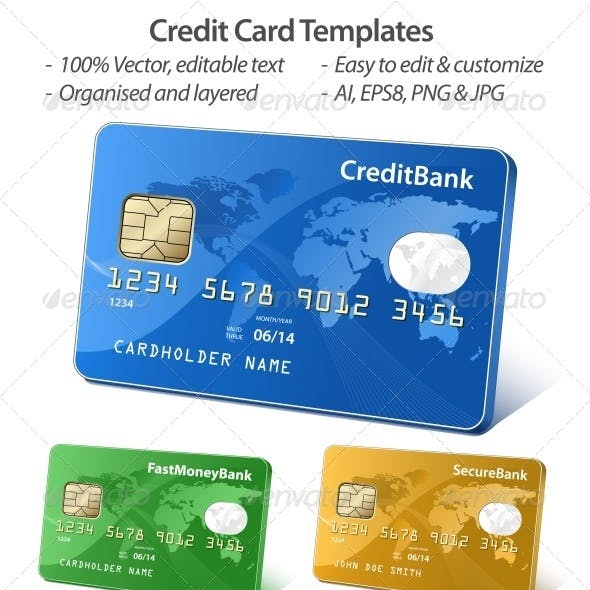 Credit card template graphics designs templates credit card templates friedricerecipe Choice Image