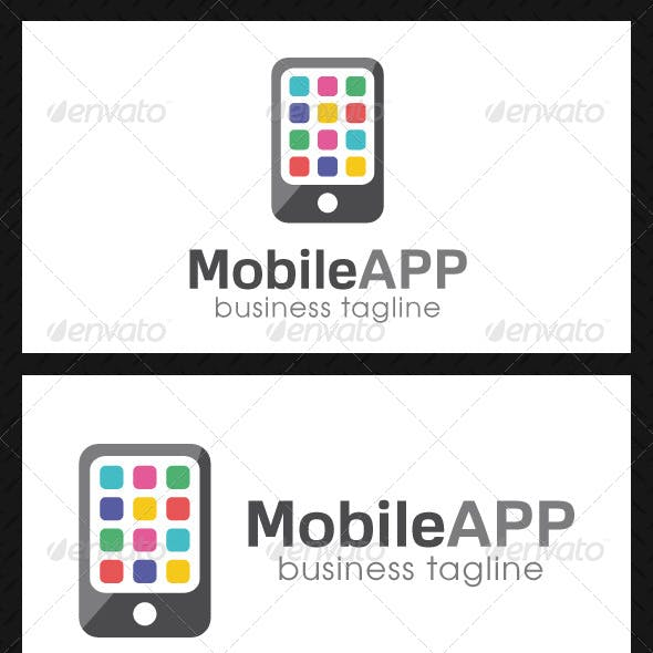 mobile app logo templates from graphicriver