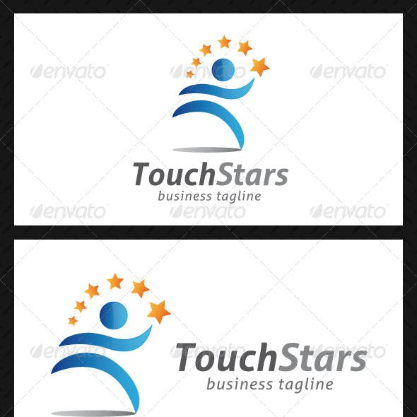 Baby Sitter Clear All Touch Stars People Logo Template