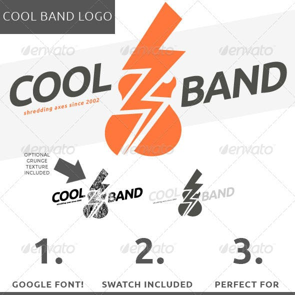 gigs cool logo template from graphicriver