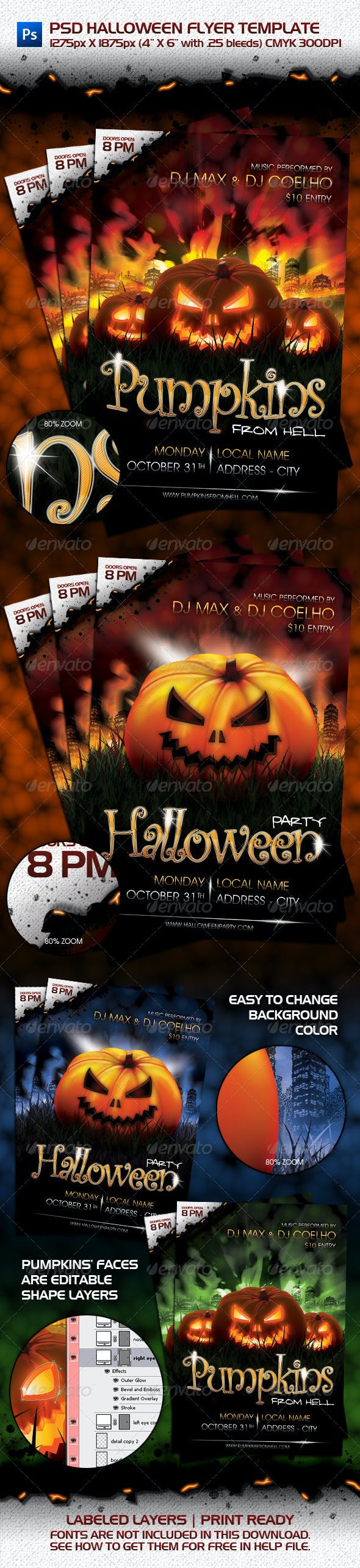 psd halloween flyer template by maxwellcoelho graphicriver