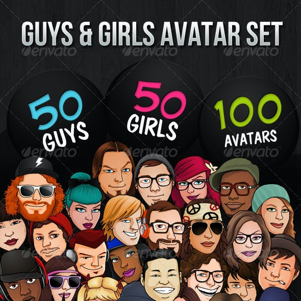 100 Guys Girls Avatars