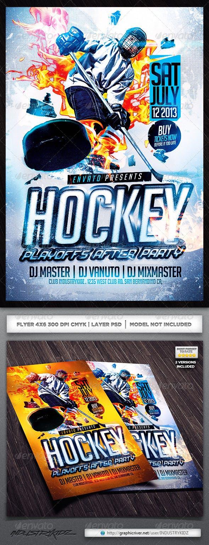 Hockey Flyer Template By Industrykidz Graphicriver