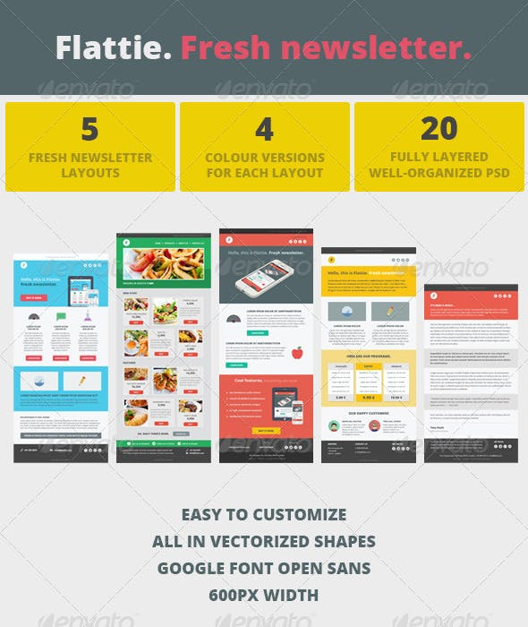 Flattie Fresh Modern Newsletter By Pixel Fabric Graphicriver