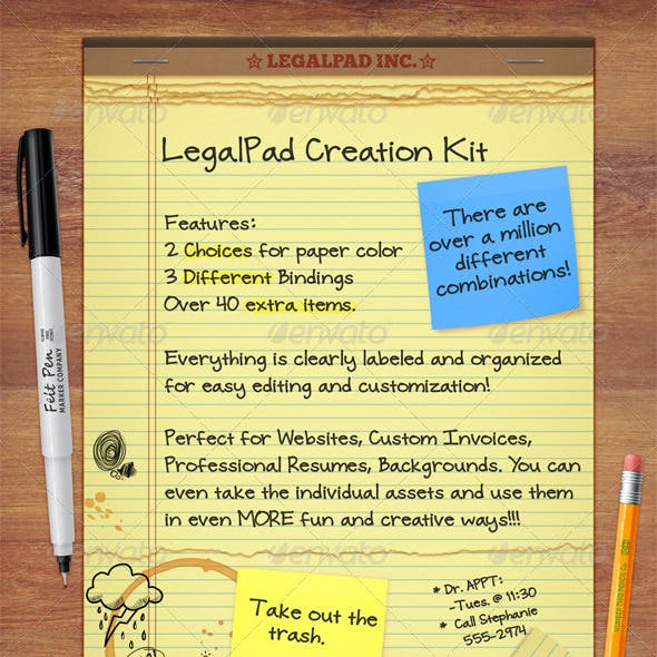 Legal Pad Graphics Designs Template From Graphicriver