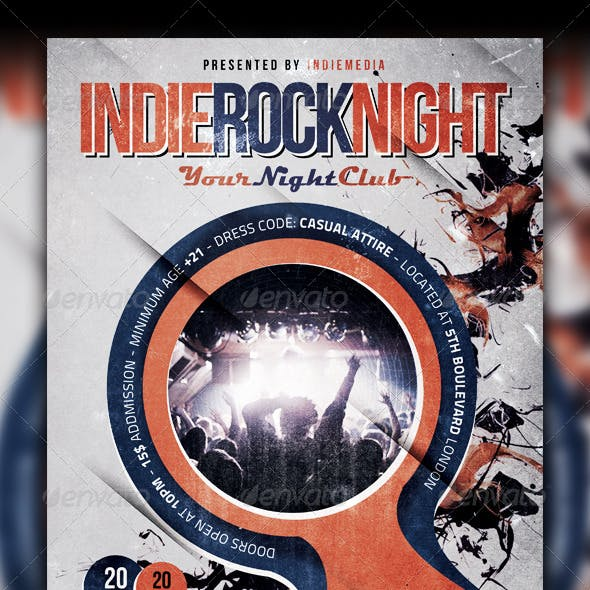 underground and vintage concert flyer templates page 7